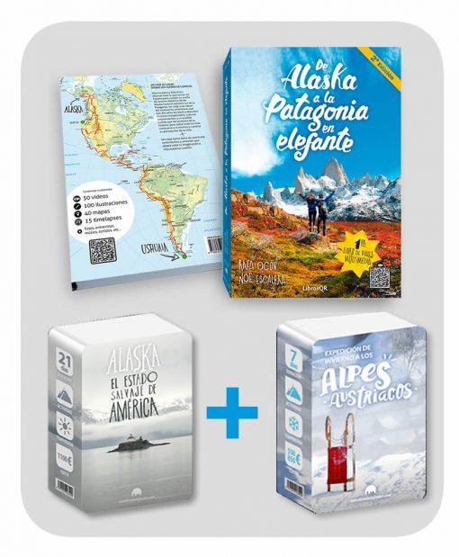 Pack-Libro+guia austria+guia alaska